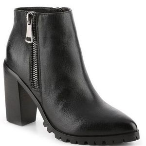 Steve Madden Norris zip leather boots black sz 10